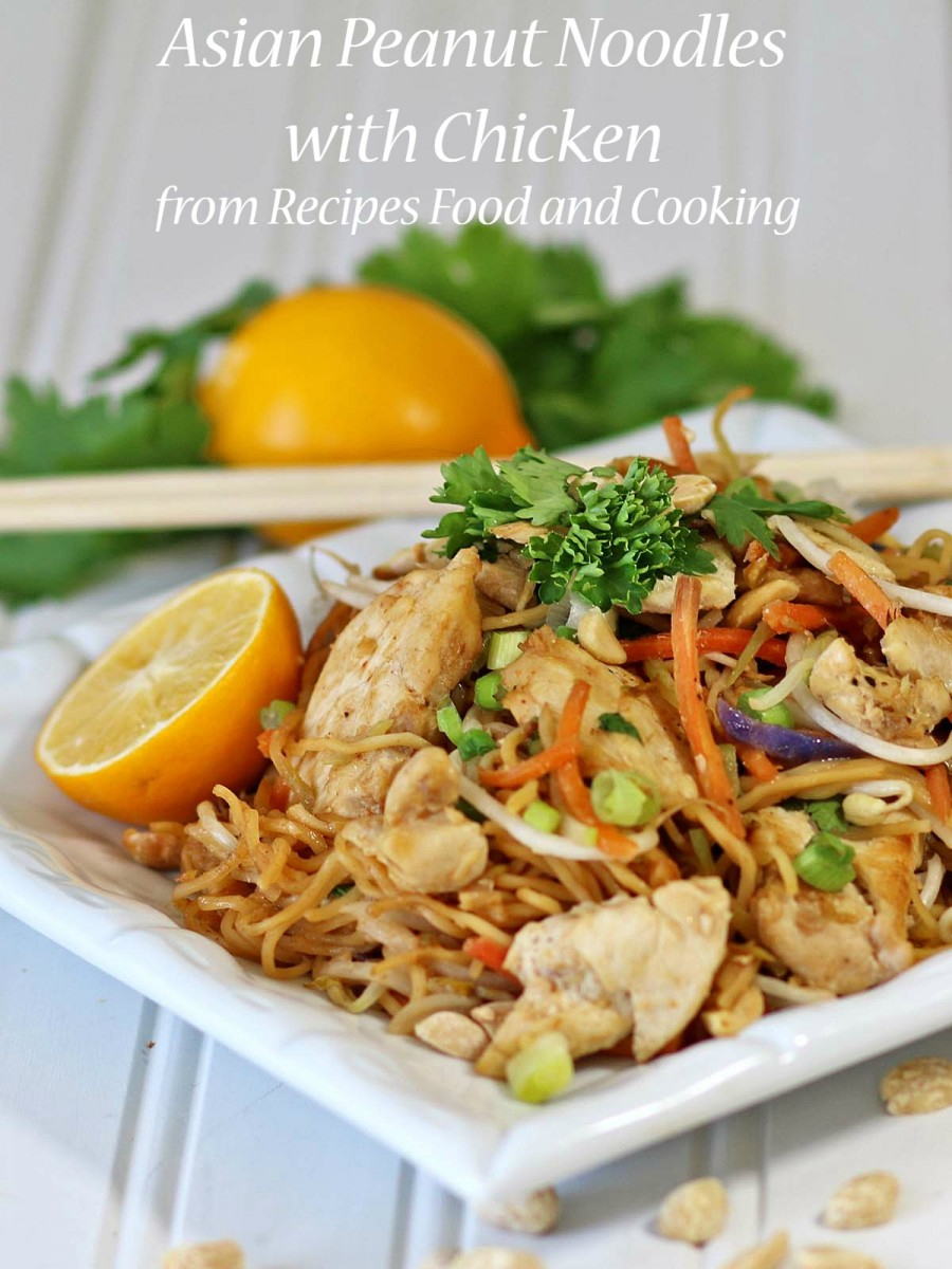 Asian Peanut Chicken with Noodles