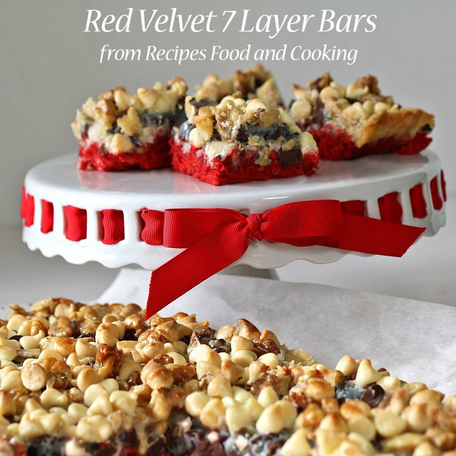Red Velvet 7 Layer Bars