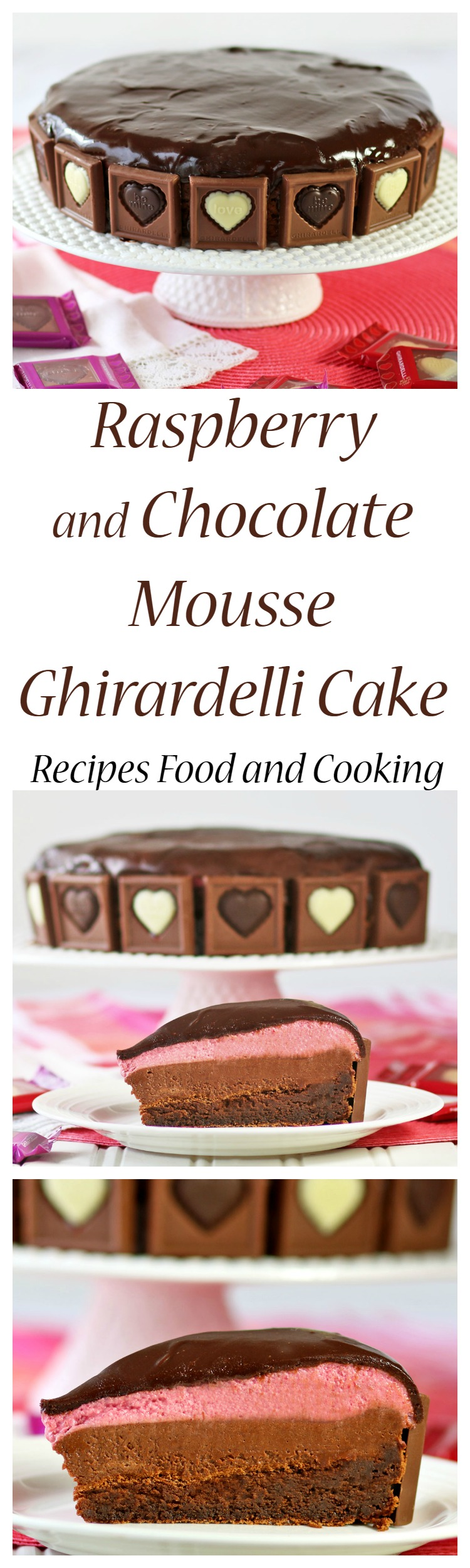 Raspberry and Chocolate Mousse Ghirardelli Cake - Recipes Food and ...