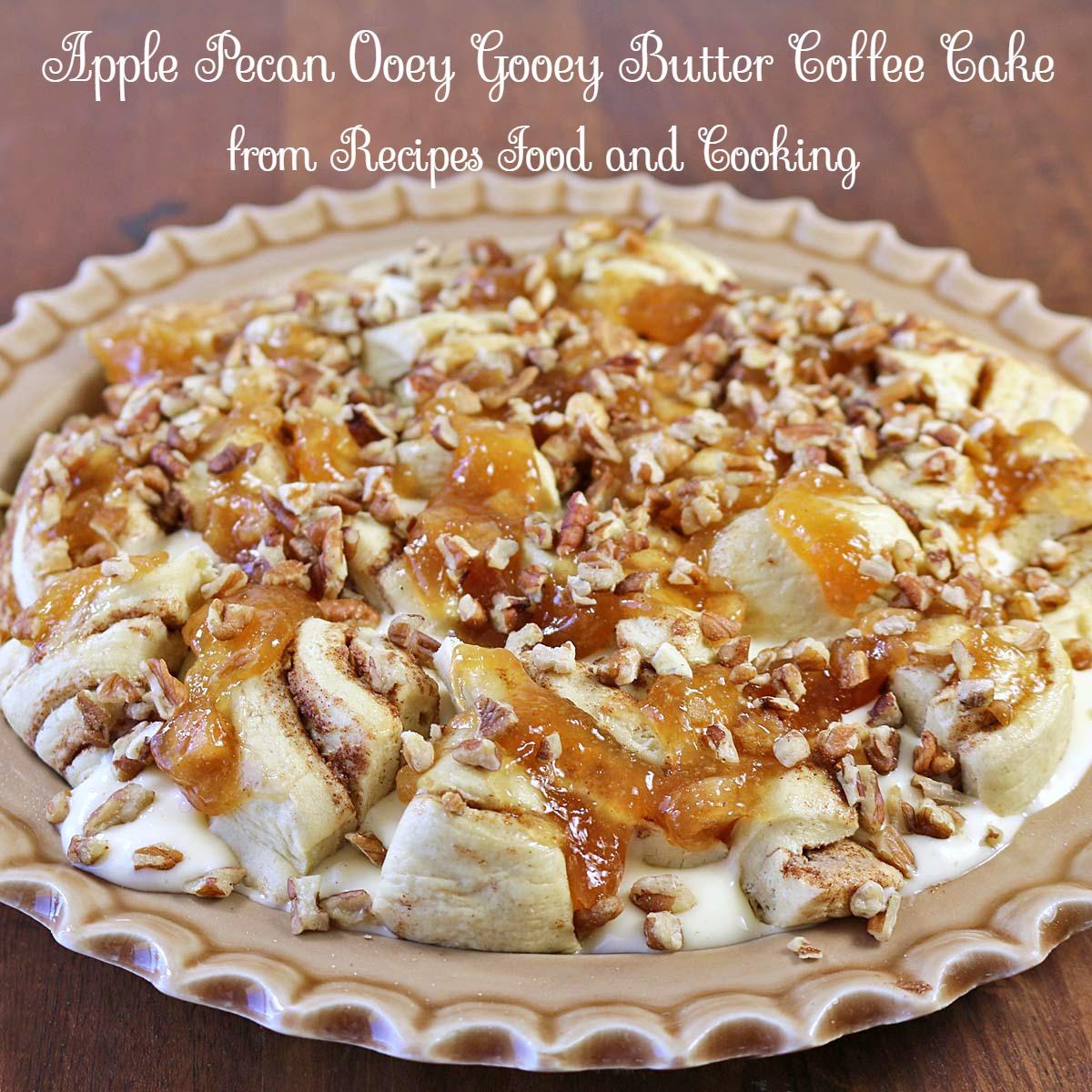 Gooey Apple Coffee Cake