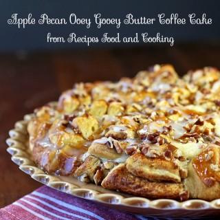 Apple Pecan Ooey Gooey Butter Coffee Cake