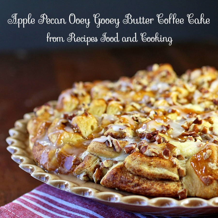 Apple Pecan Ooey Gooey Butter Coffee Cake