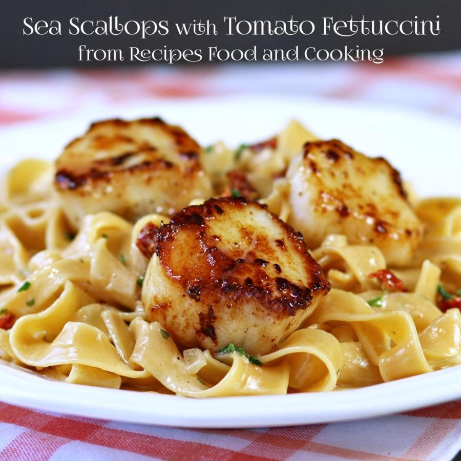Sea Scallops with Tomato Fettuccine