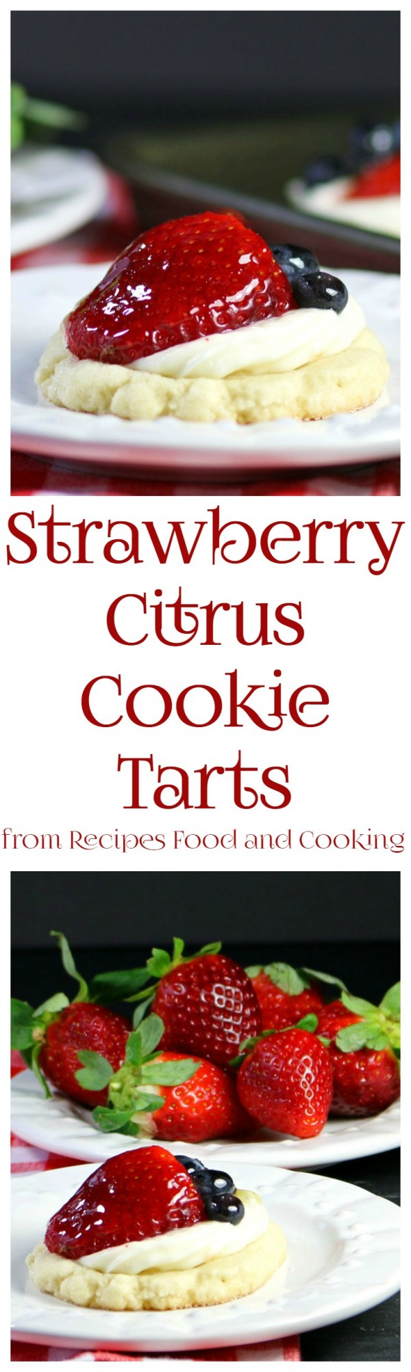 Strawberry Citrus Cookie Tarts