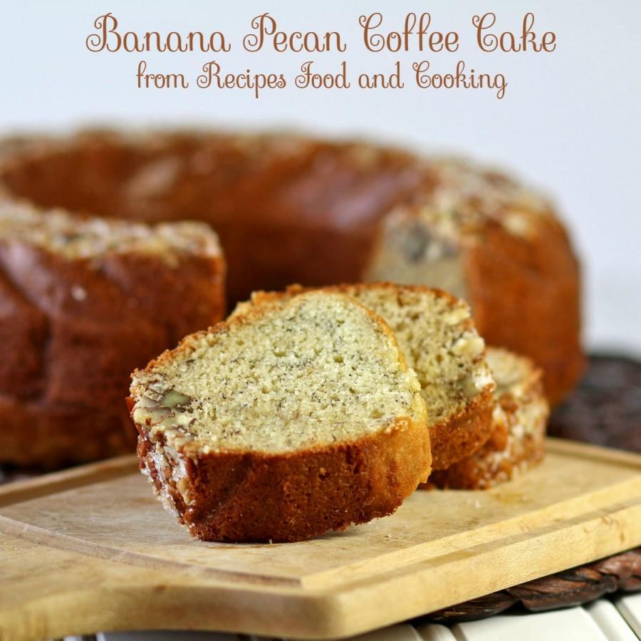 Banana Pecan Coffee Cake