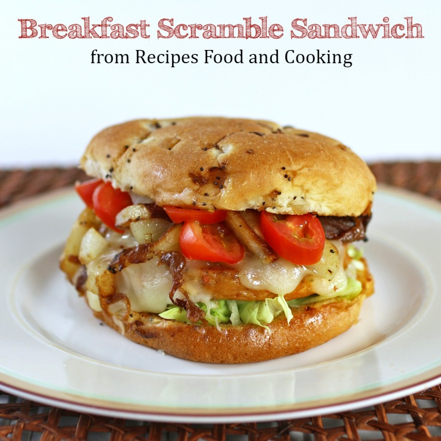 Breakfast Scramble Sandwich