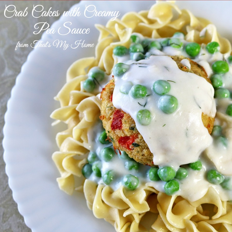 Crab Cakes with Pea Sauce