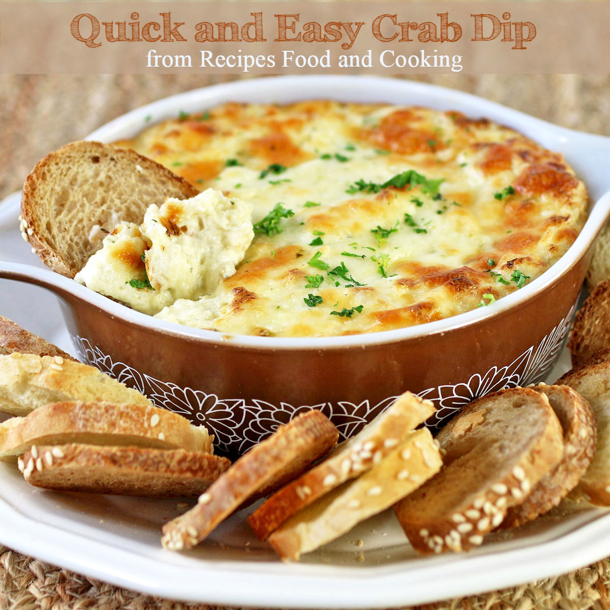 Easy and quick crab dip recipes food and cooking easy and quick crab dip forumfinder Image collections