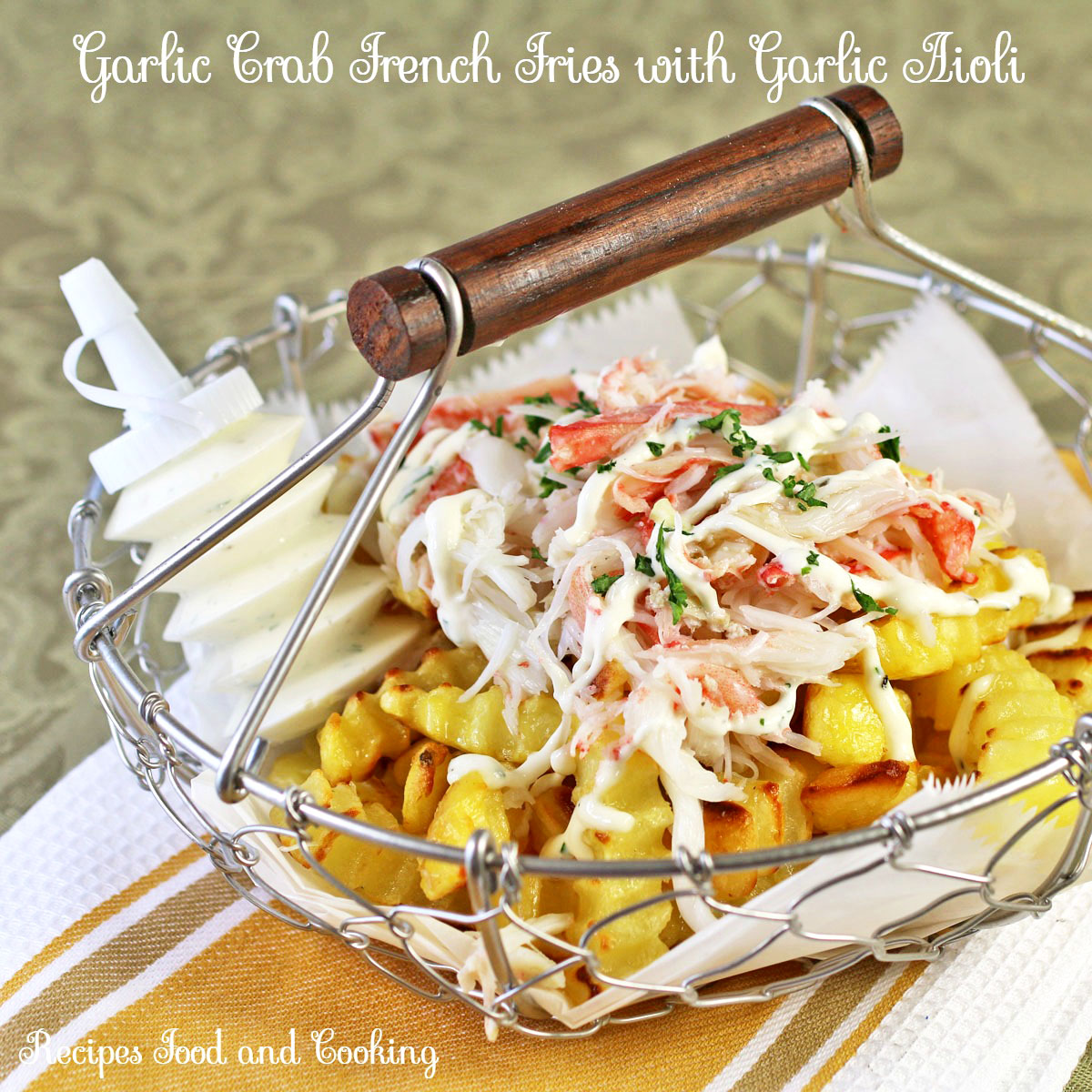 Garlic Crab French Fries with Garlic Aioli