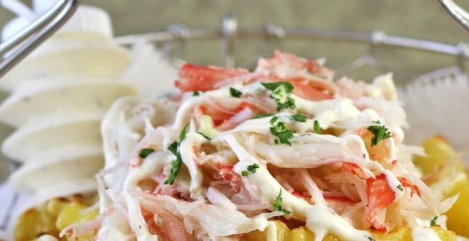 Garlic Crab French Fries