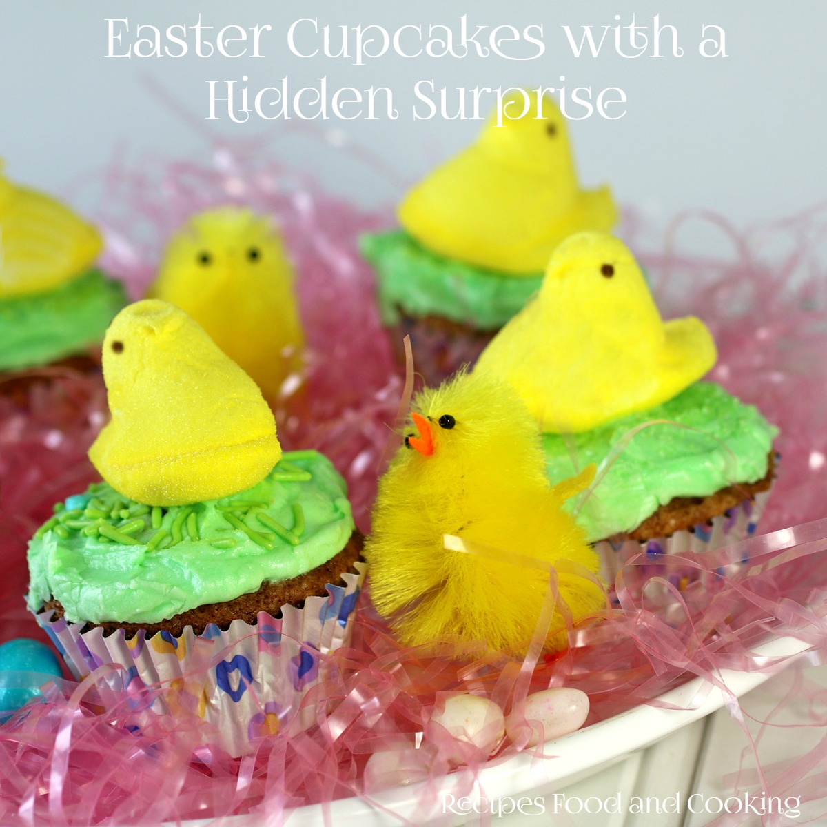 Easter Cupcakes with a Hidden Surprise