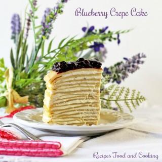 Blueberry Crepe Cake