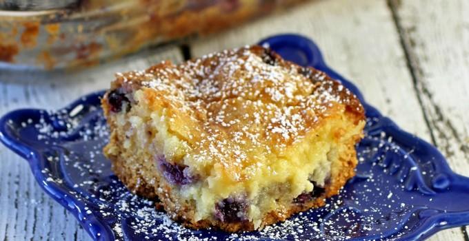 Pineapple Blueberry Ooey Gooey Butter Cake #SundaySupper