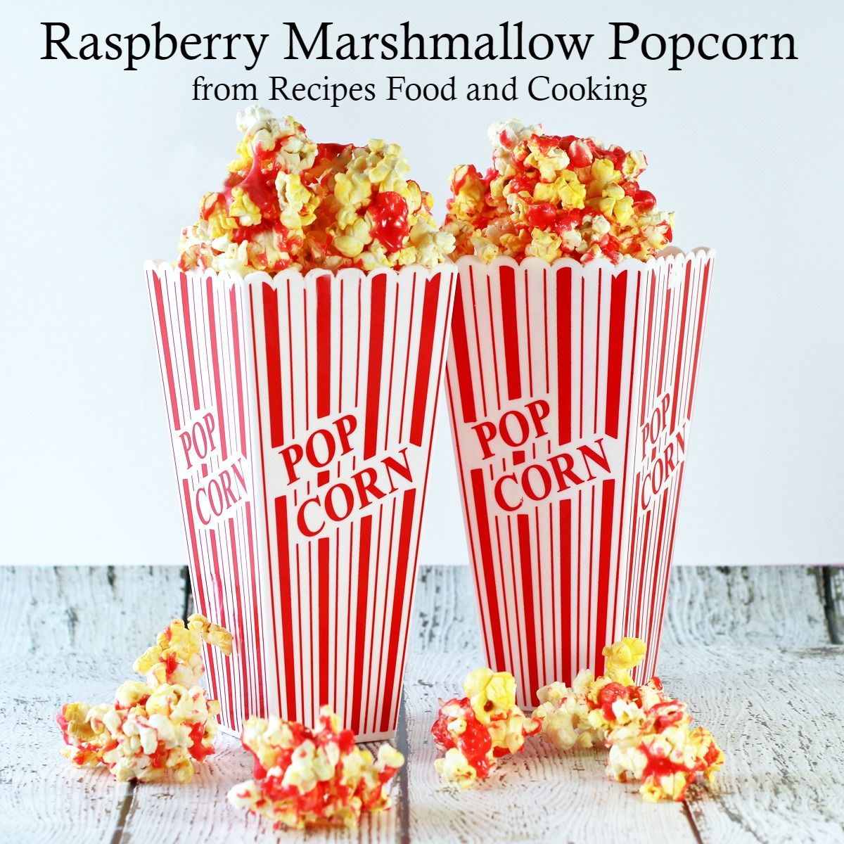 Raspberry Marshmallow Popcorn