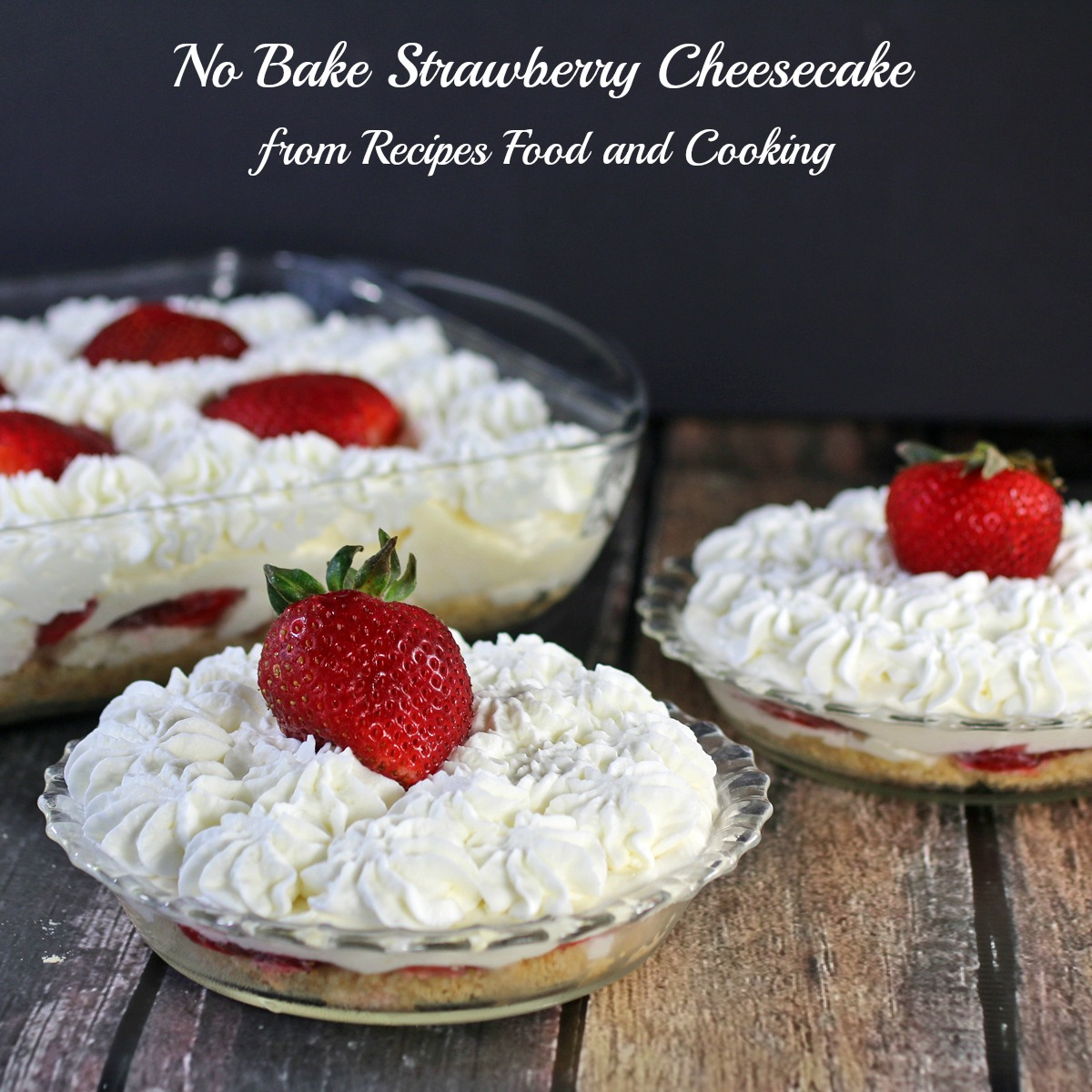 No Bake Strawberry Cheesecake - Princess Pinky Girl