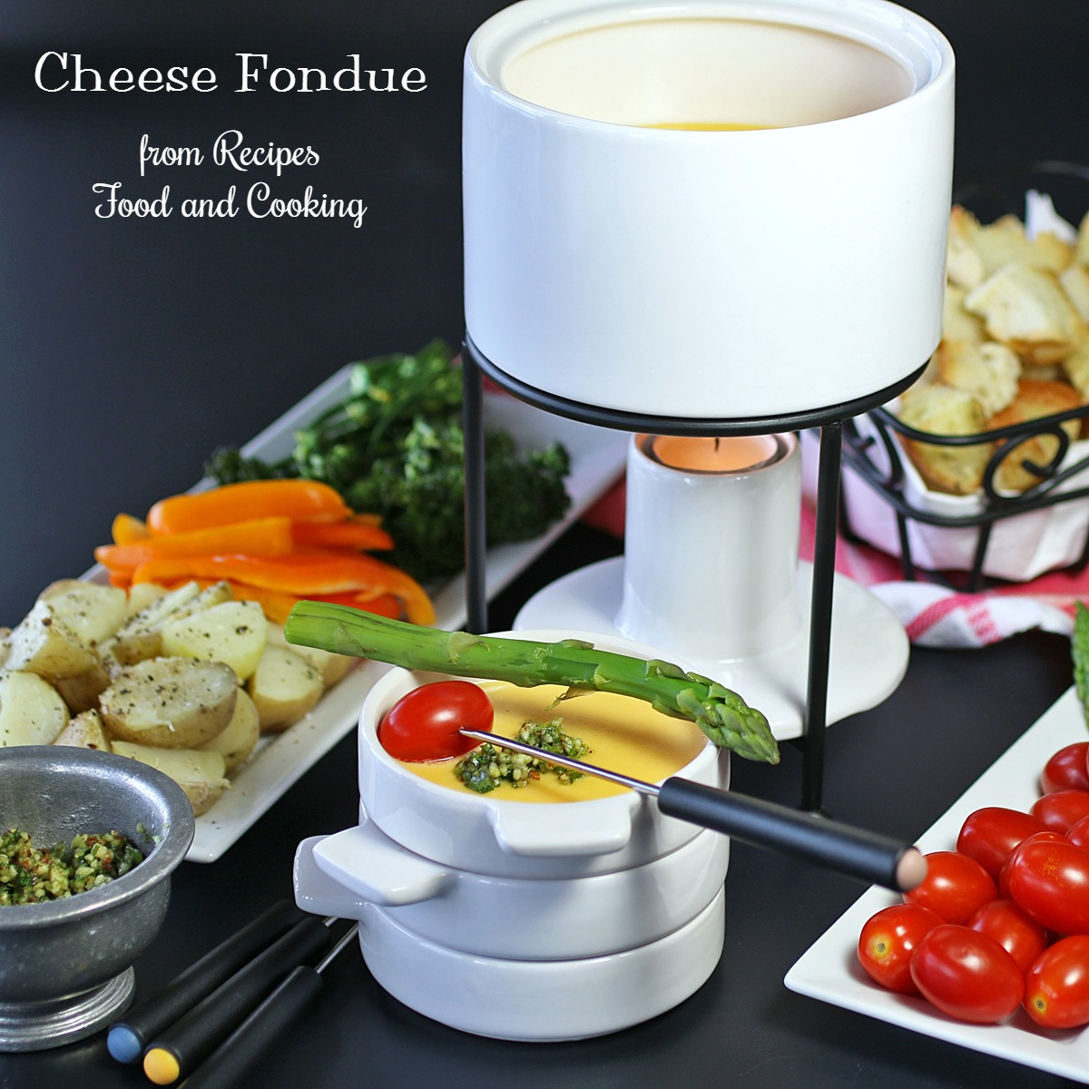 Cheese Fondue #SundaySupper - Recipes Food and Cooking