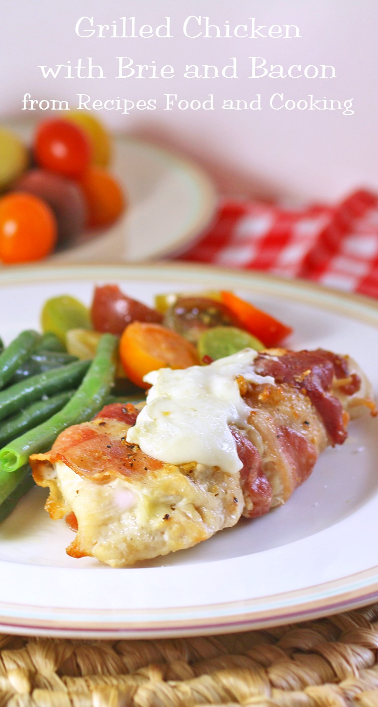 Grilled Chicken with Brie and Bacon