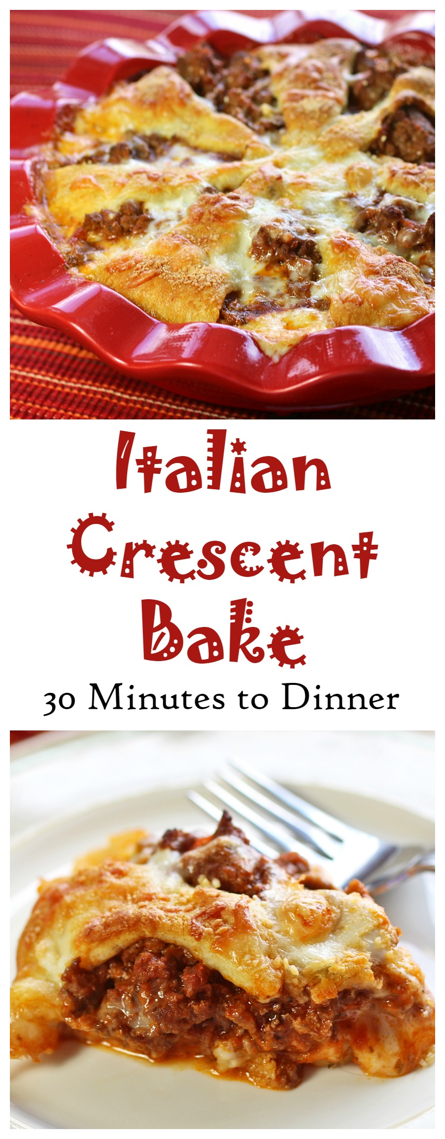Italian Crescent Bake