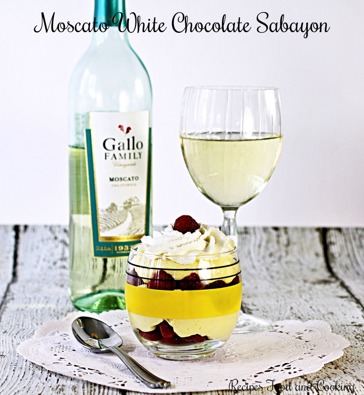 Moscato White Chocolate Sabayon