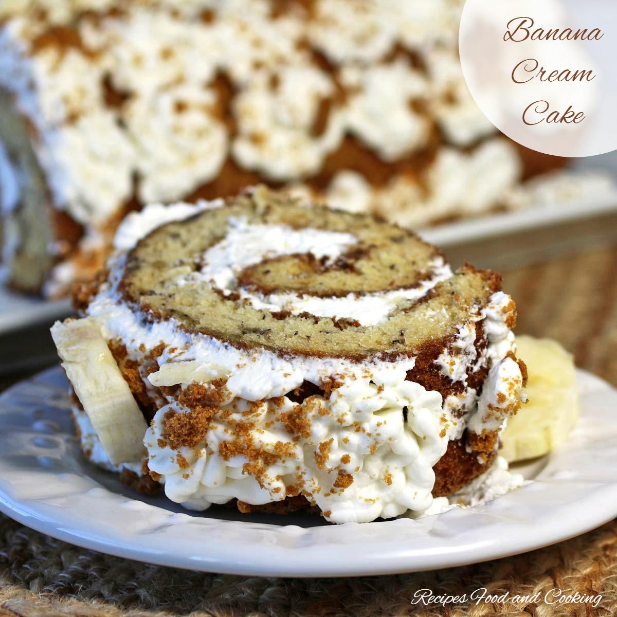 Banana Cream Cake Roll