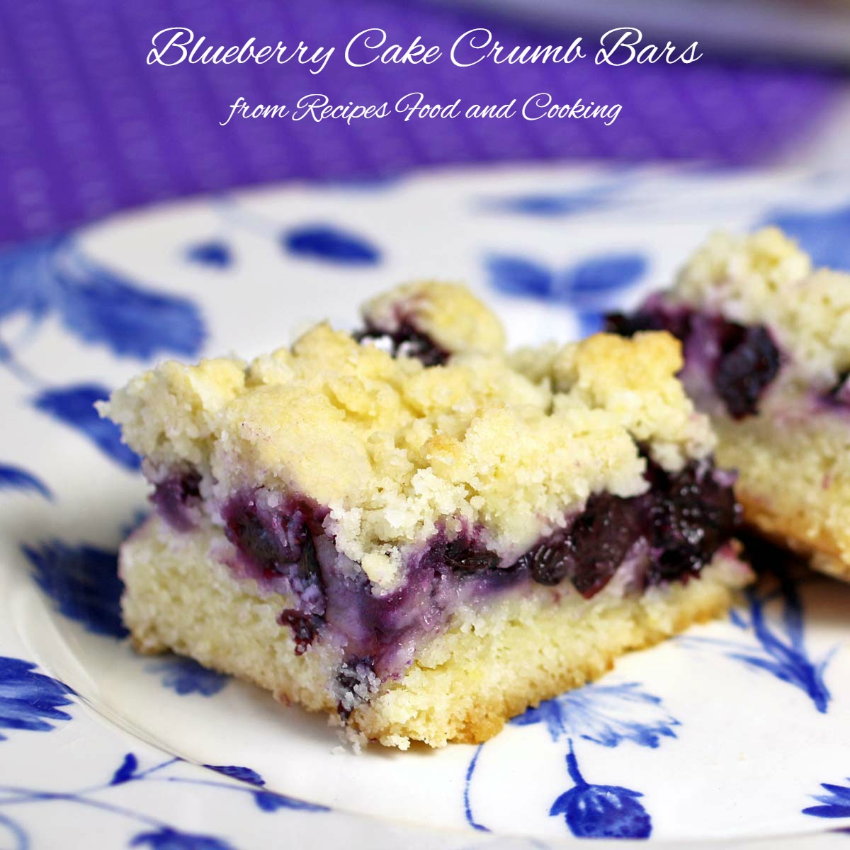 Blueberry Cake Crumb Bars
