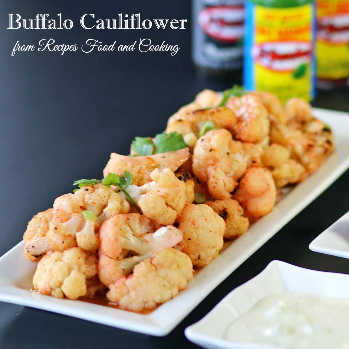 Buffalo Cauliflower and Hot Wings
