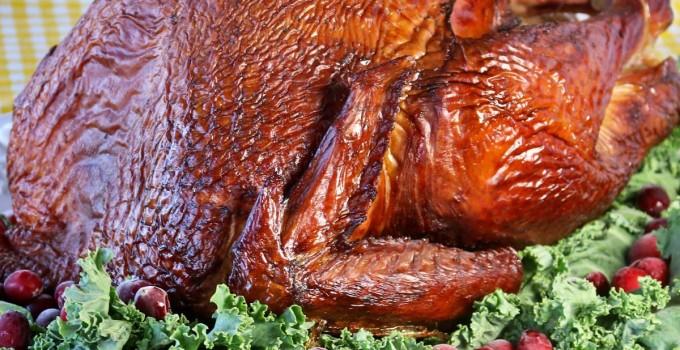 Smoked Turkey on a Kamado Grill