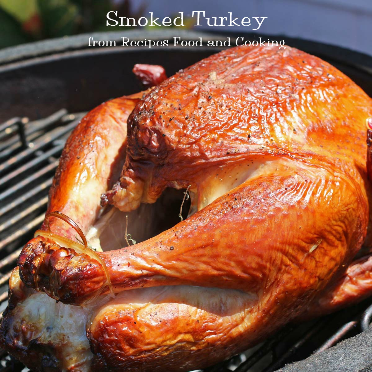 Smoked Turkey on a Kamado Grill - Recipes Food and Cooking