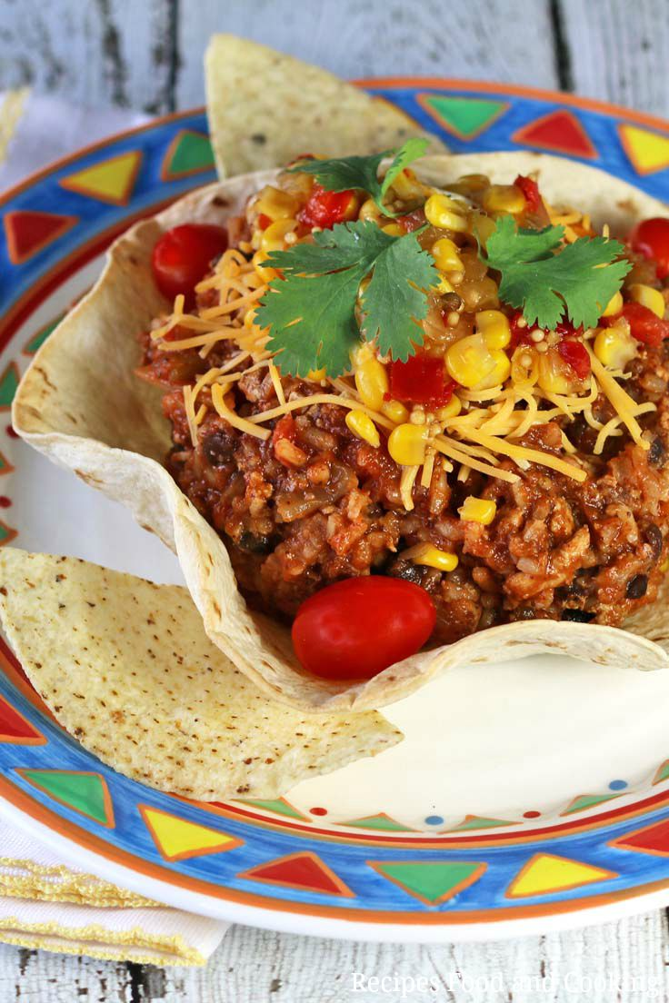 One Pot Burrito Bowl Weekdaysupper Recipes Food And Cooking