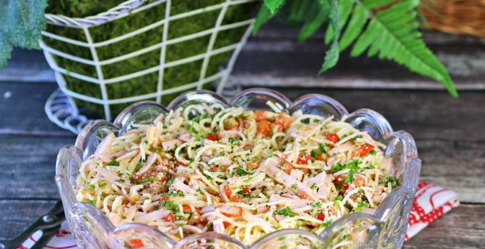 Parmesan Pasta Salad #Sunday Supper