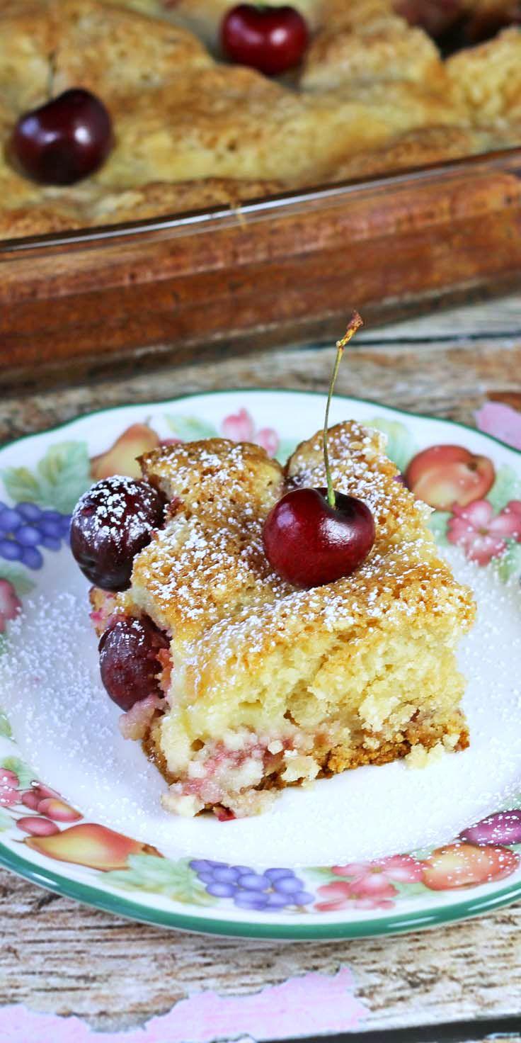 Sweet Cherries Ooey Gooey Butter Cake