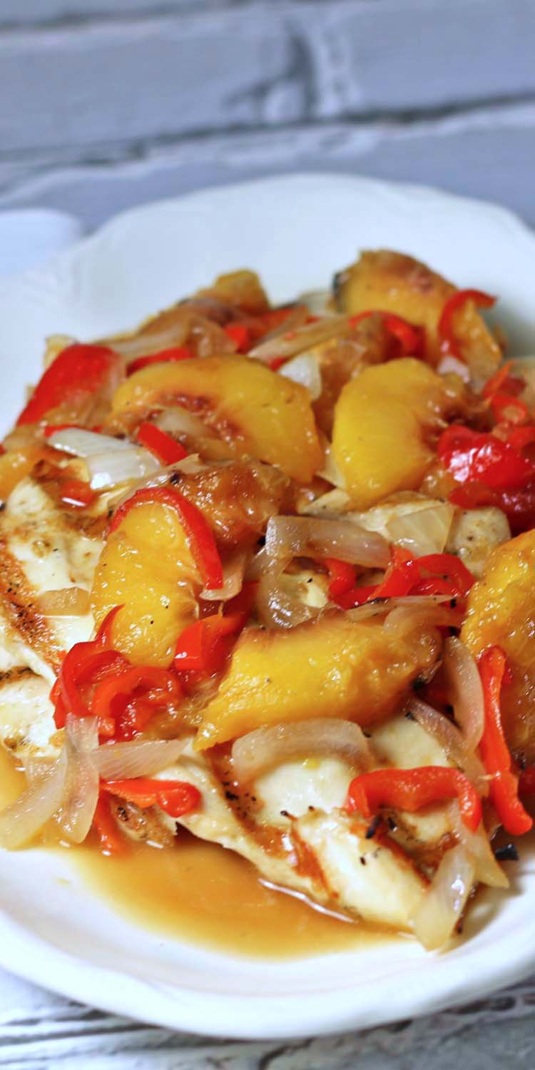 Grilled Chicken Scaloppine With Peaches Weekdaysupper Recipes Food And Cooking
