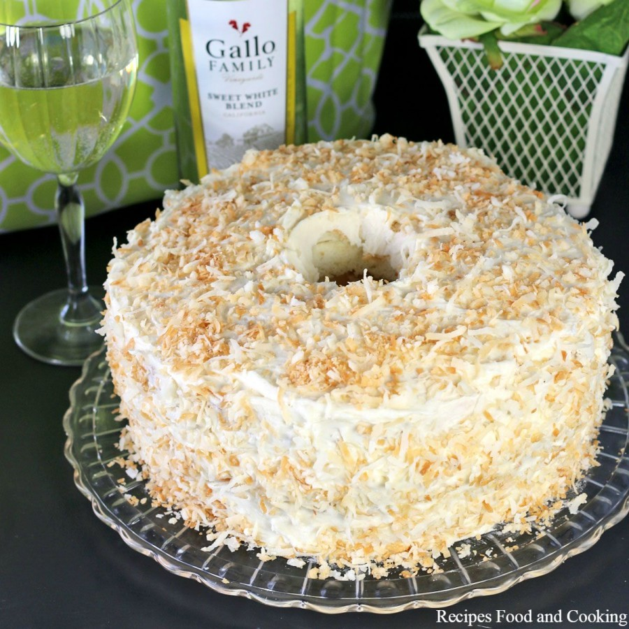 Tropical Angel Food Cake