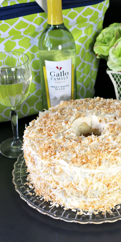 Tropical Angel Food Cake