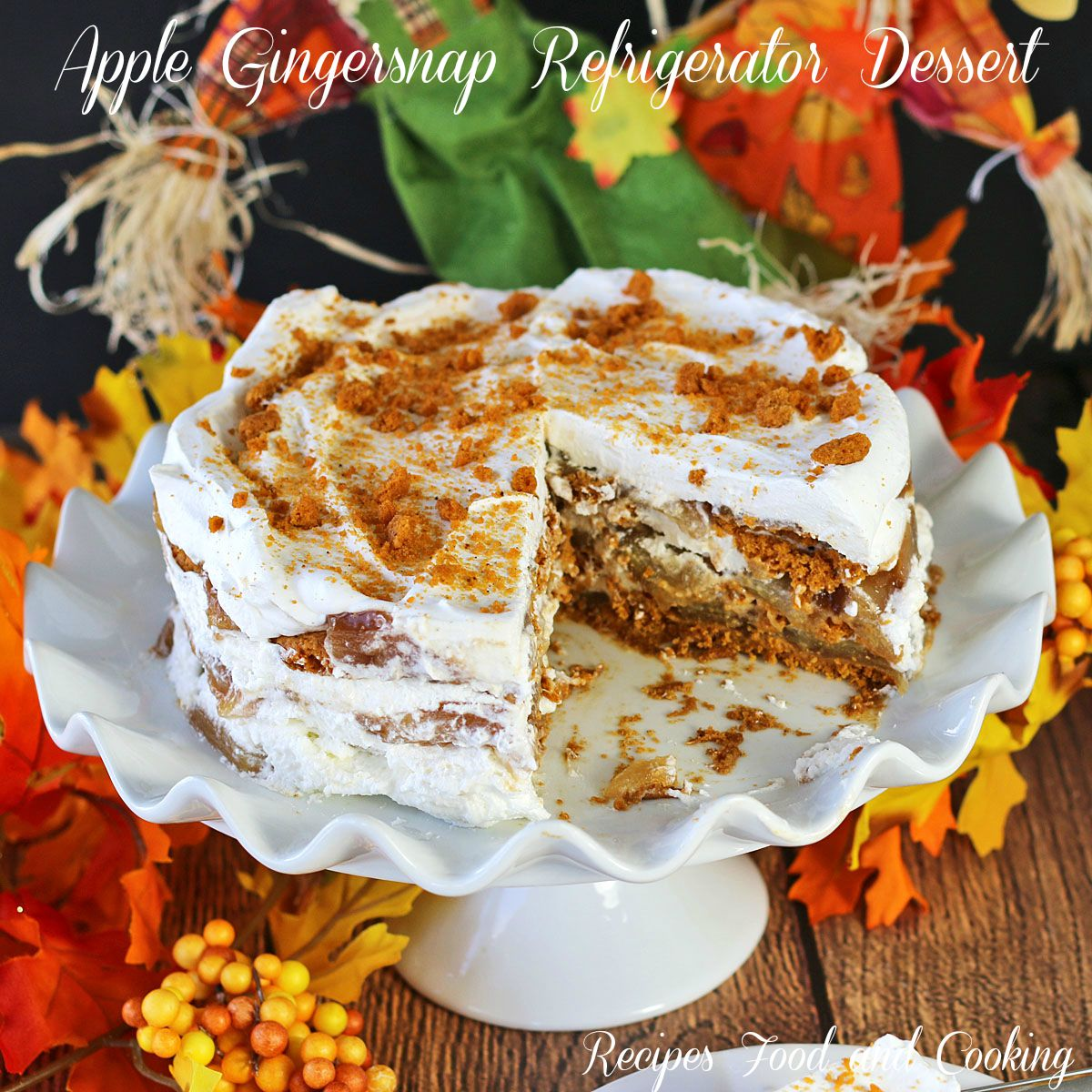 Apple Gingersnap Refrigerator Dessert