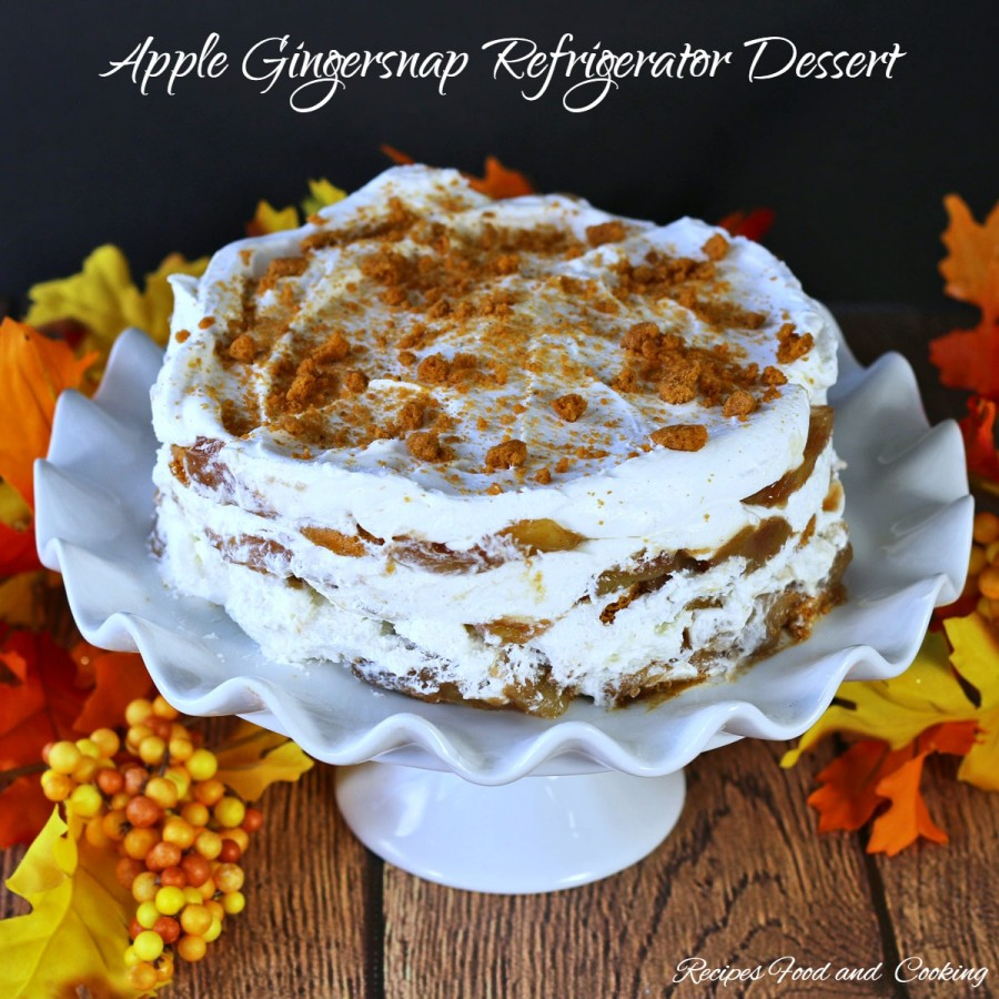 Apple Gingersnap Refrigerator Dessert