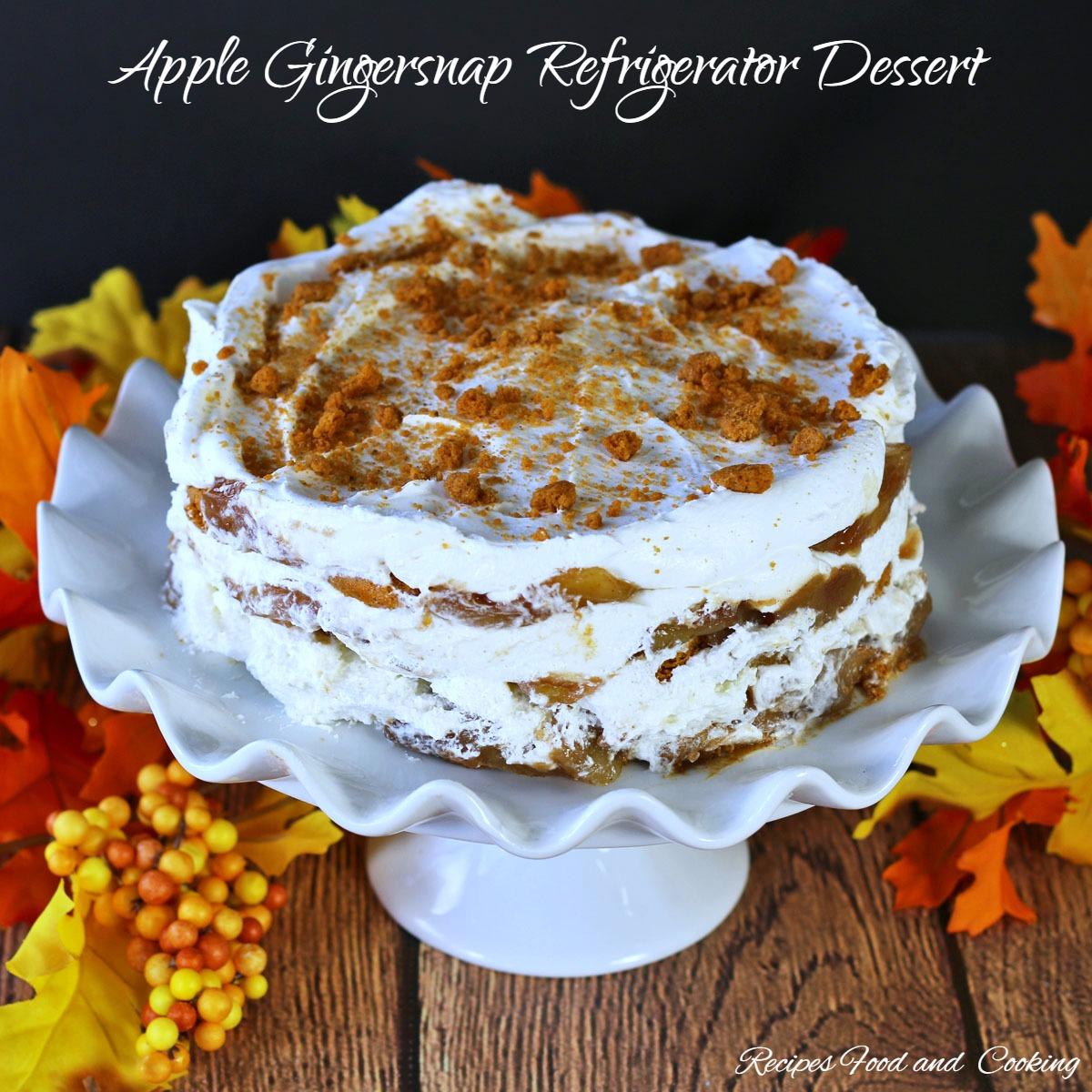 Apple Gingersnap Refrigerator Dessert #SundaySupper