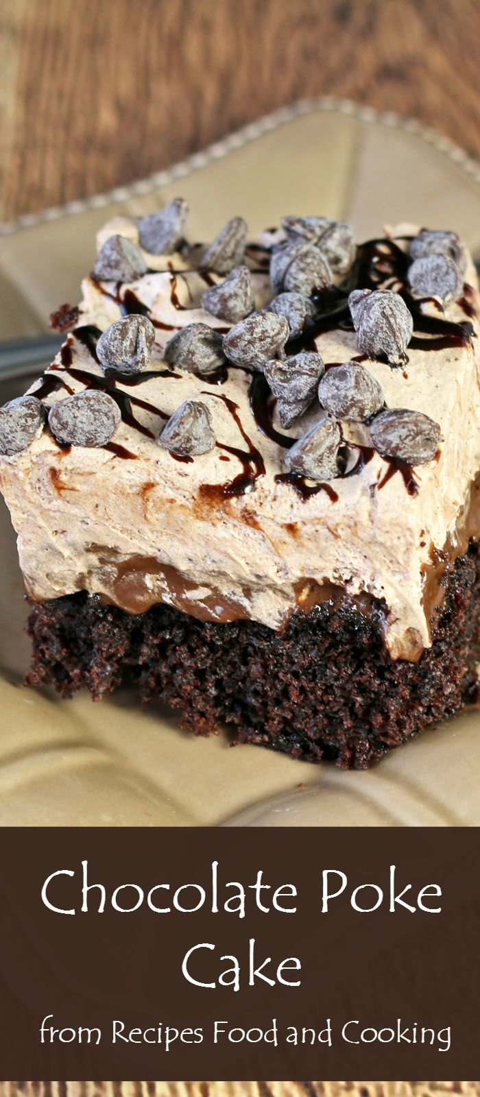 Chocolate Poke Cake With Cream Cheese Frosting