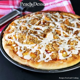 Peach Dessert Pizza
