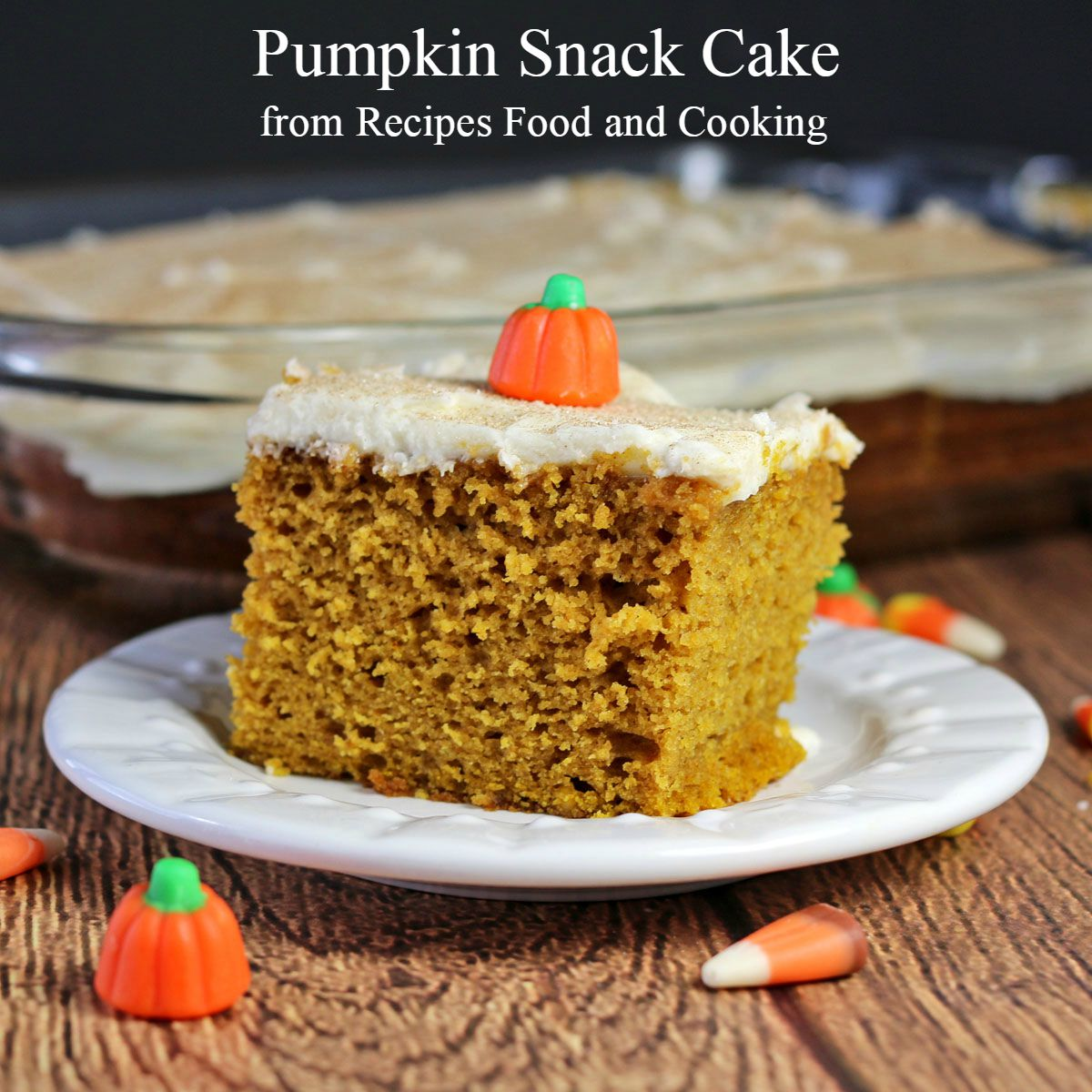 Pumpkin Snack Cake #PumpkinWeek - Recipes Food and Cooking