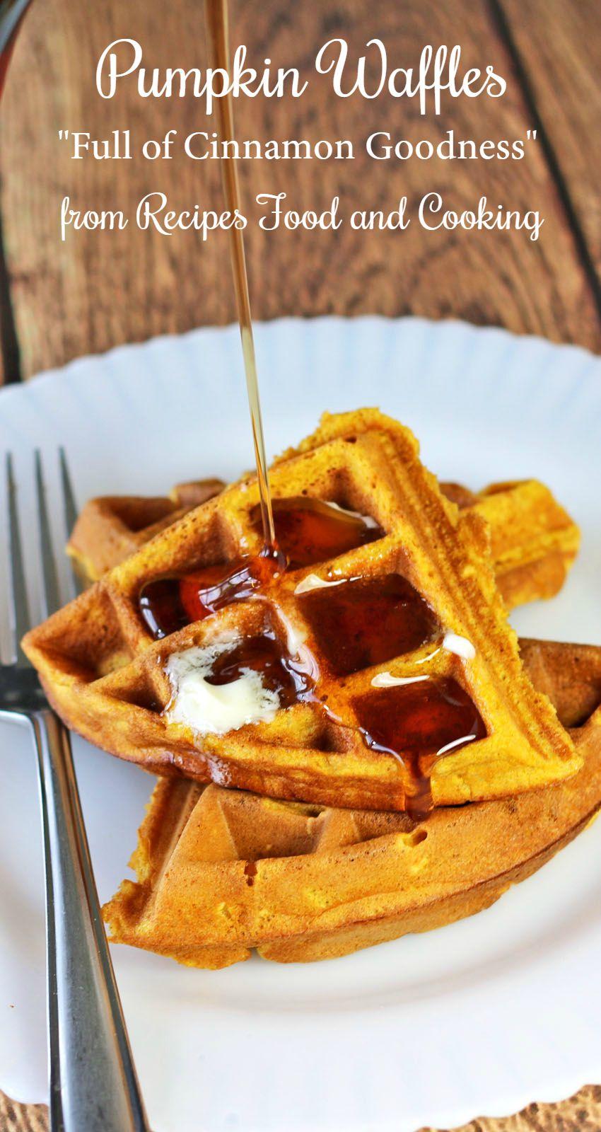 Pumpkin Waffles Pumpkinweek Recipes Food And Cooking
