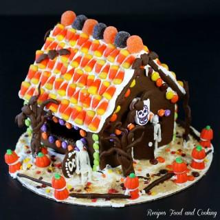 Halloween Chocolate Gingerbread House