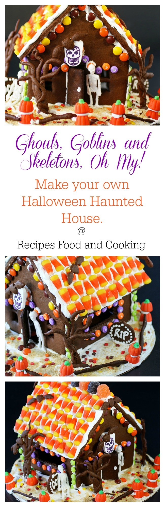 Halloween Chocolate Gingerbread House