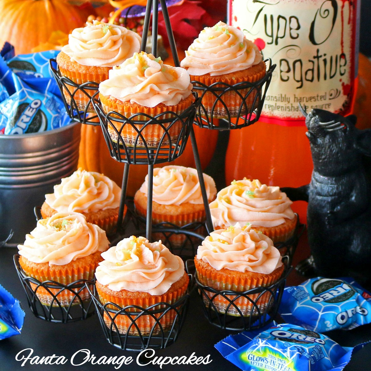 Fanta Orange Cupcakes and Glow in the Dark OREOS Recipes Food and