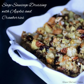 Sage Sausage Dressing with Apples and Cranberries