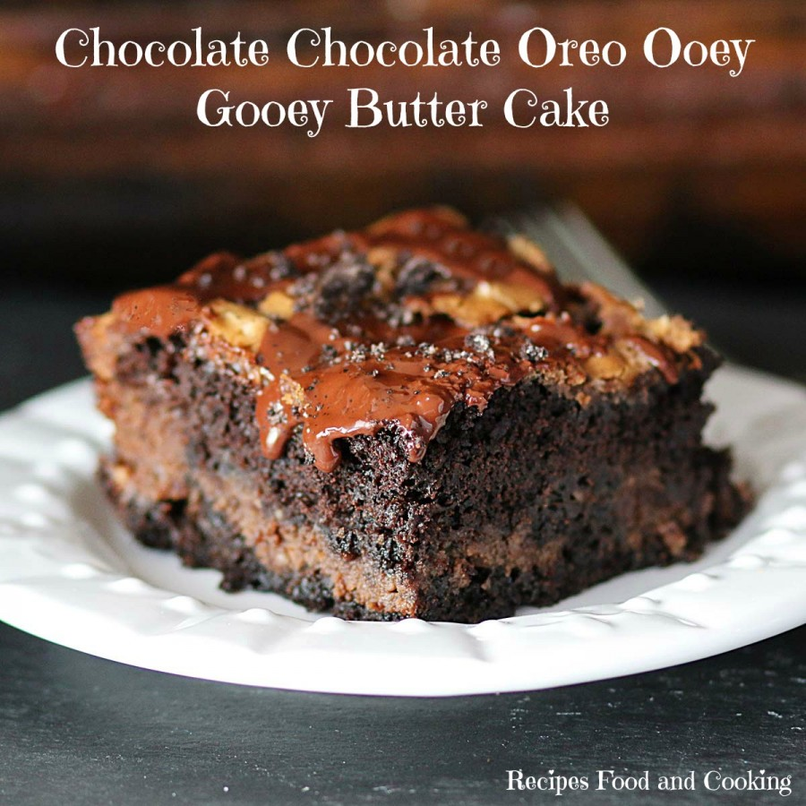 Chocolate Chocolate Oreo Ooey Gooey Butter Cake