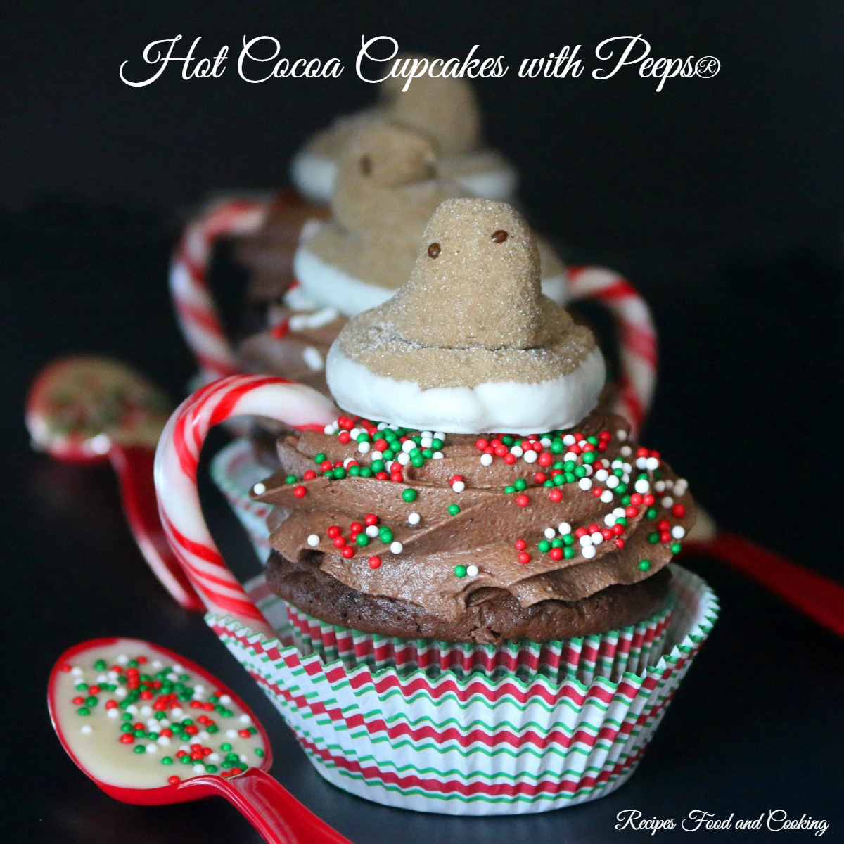 Hot Cocoa Cupcakes with Peeps®