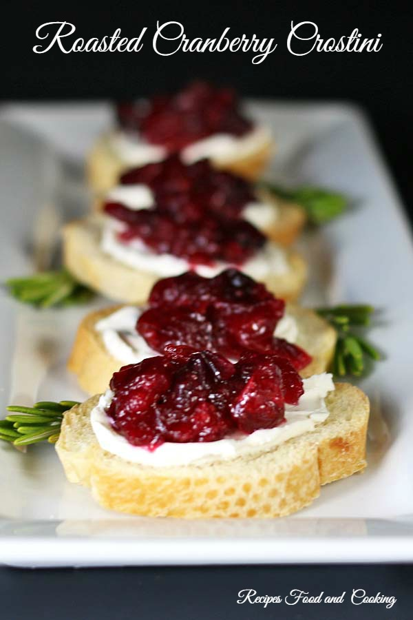 Roasted Cranberry Crostini
