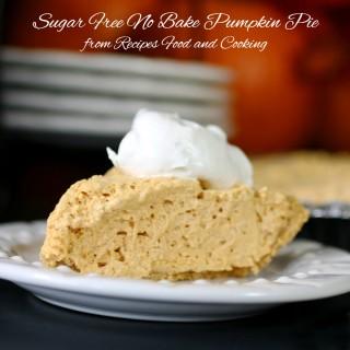 Sugar Free No Bake Pumpkin Pie