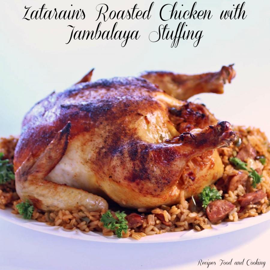 Zatarain's Roasted Chicken with Jambalaya Stuffing